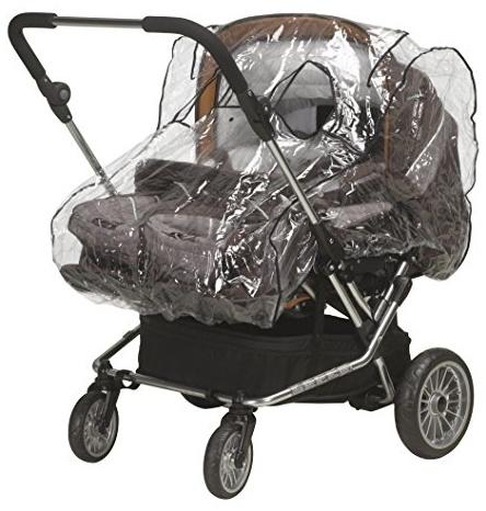 Playshoes 448943 Regenverdeck, Regenschutz, Regenhaube für Zwillingskinderwagen mit Kontaktfenster Bild 1