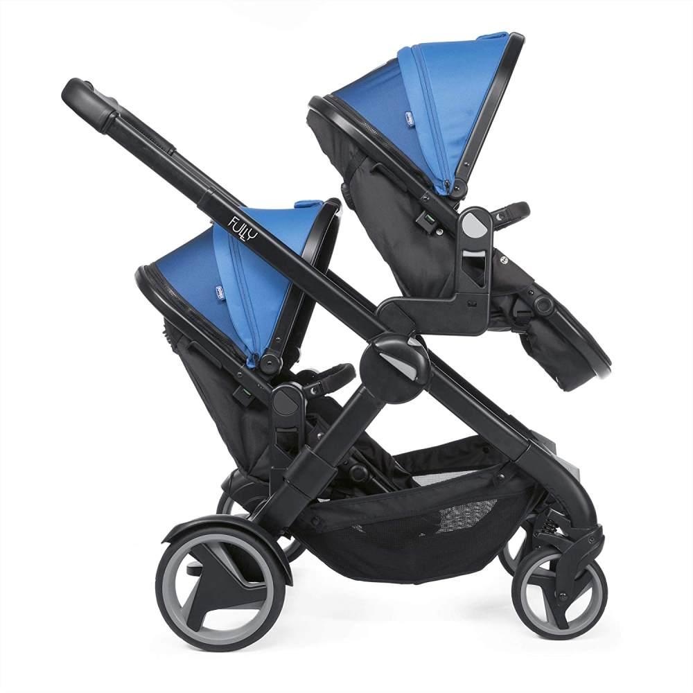 Chicco 'Fully Twin' Geschwisterwagen 2020 blau / schwarz Bild 1