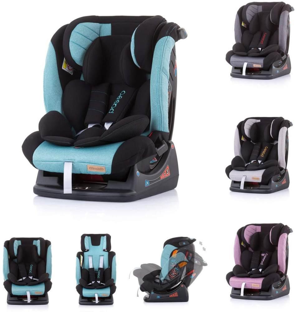 Chipolino Kindersitz Paseo Gruppe 0+/1/2/3 (0 - 36 kg) Rückenlehne verstellbar blau Bild 1