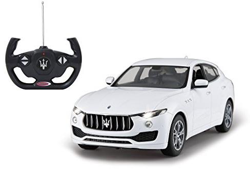 Jamara 405144 Maserati Levante 1:14 weiß 40 MHz-RC Auto, offiziell lizenziert, bis 1 Std Fahrzeit, ca 9 Km/h, perfekt nachgebildete Details, detaillierter Innenraum, hochwertige Verarbeitung,LED Bild 1