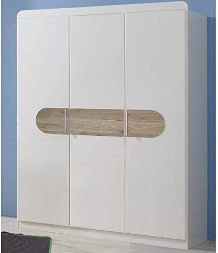 Wimex Kleiderschrank/ Drehtürenschrank Lilly, 3 Türen, (B/H/T) 135 x 175 x 58 cm, Weiß Bild 1