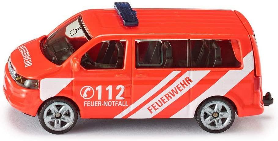 Siku 1460, Feuerwehr Einsatzleitwagen, Metall/Kunststoff, rot, Öffenbare Heckklappe Bild 1
