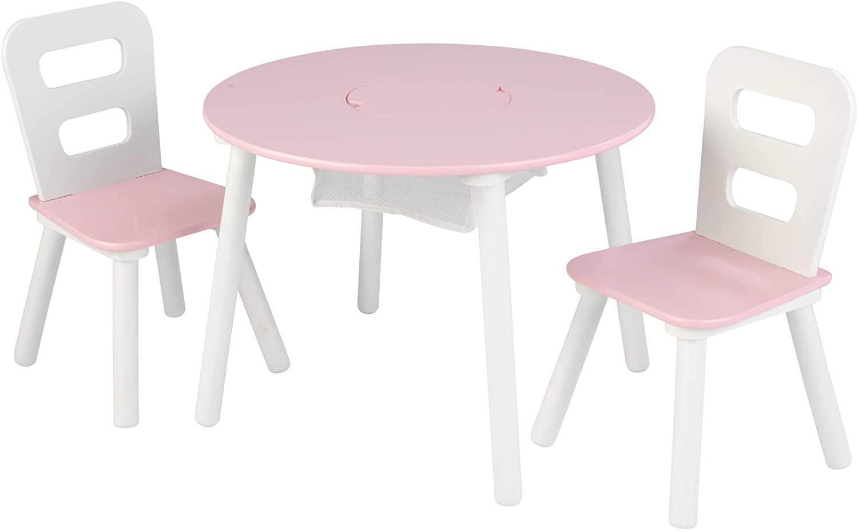 KidKraft Kindertisch mit 2 Stühlen Rosa Massivholz 26165 Bild 1