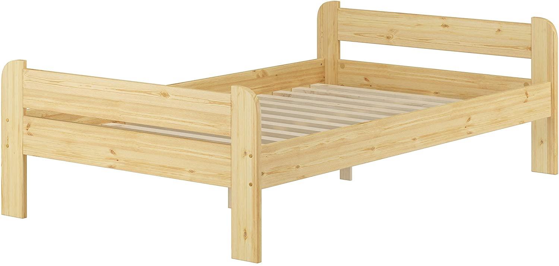 Erst-Holz Breites robustes Einzelbett 120x200 Kiefer massiv V-60.39-12 Rollrost inkl. Bild 1