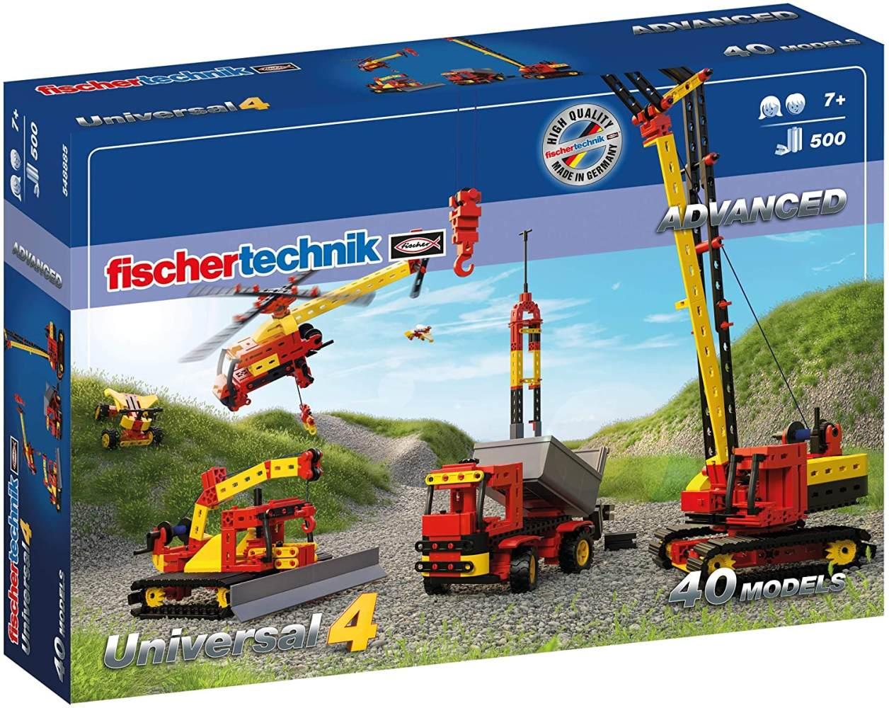 fischertechnik Bauset Universal 4 - der perfekte Baukasten für technikbegeisterte Kids - Das Konstruktionsspielzeug mit 40 verschiedenen Modellen sorgt für einen weiten Einblick in die Technik-Welt Bild 1