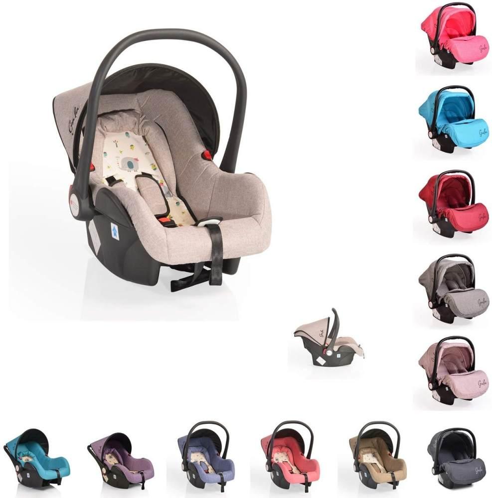 Cangaroo Babyschale Gala, Gruppe 0+ (0-13 kg), Sitzpolster, Fußabdeckung, Farbe:beige Bild 1