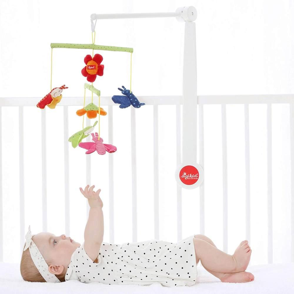 SIGIKID Mädchen und Jungen, Mobile Wiese Hangons, Babyspielzeug, empfohlen ab 0 Monaten, mehrfarbig, 49421 Bild 1