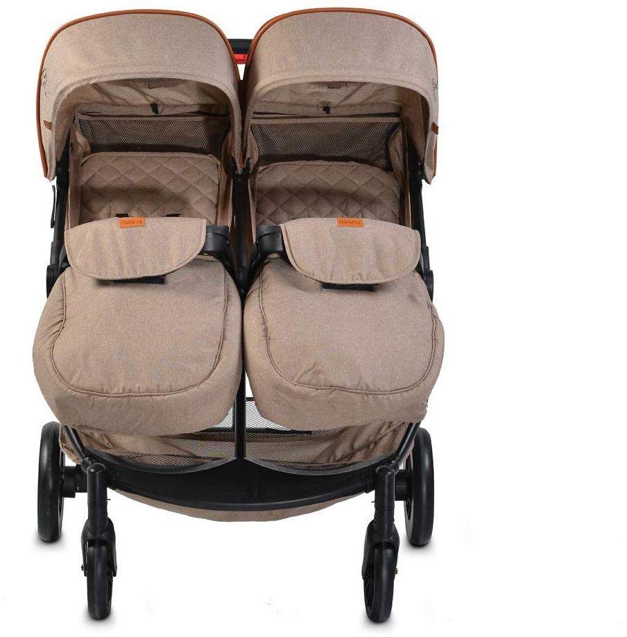Moni 'Rome' Zwillingskinderwagen beige Bild 1
