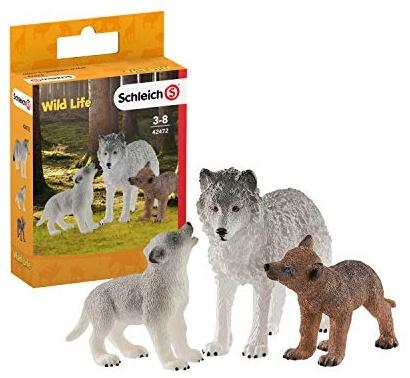 SCHLEICH 42472 Wolfsmutter mit Welpen Bild 1