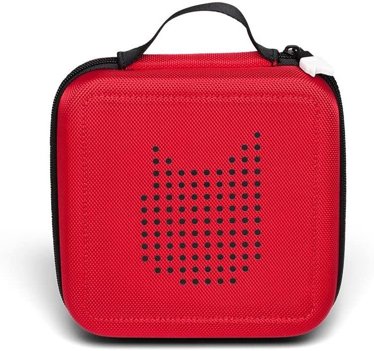 Tonies 'Tonie-Transporter' Transporttasche Rot, Box zur Aufbewahrung von bis zu 20 Tonies Hörfiguren, leicht, abwaschbar, Reißverschluss, 17,5 x 17,5 cm Bild 1