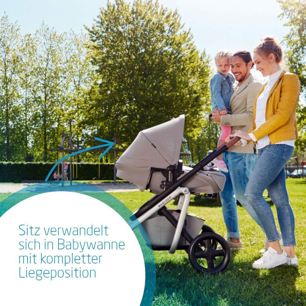 Maxi-Cosi Lila Bequemer Kinderwagen, Geeignet ab der Geburt, Reisesystem mit Babywanne, 0 Monate - 3,5 Jahre, 0-15 kg, Nomad Grey (grau) Bild 1