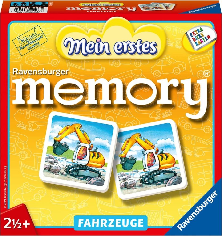 Ravensburger Kinderspiele 21437 - Mein erstes memory® - Fahrzeuge , ab 2 1/2 Jahre Bild 1