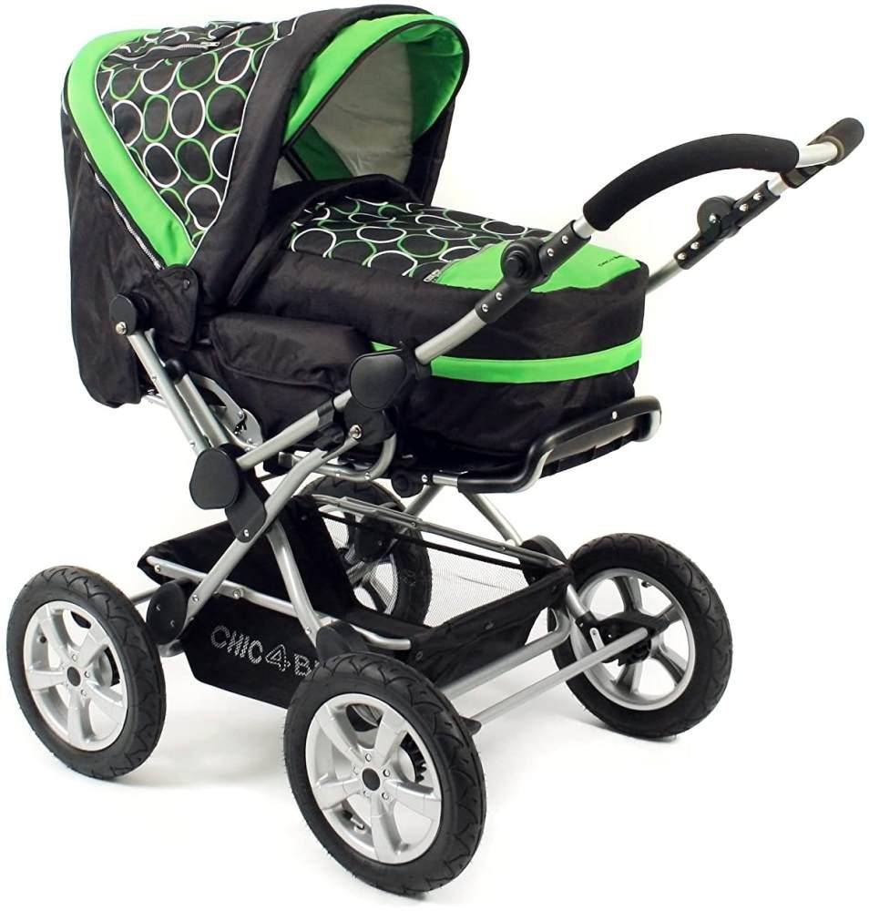 Chic 4 Baby 100 45 Schwenkschieber-Alu-Kombi Viva Orbit mit großen Lufträdern, grün Bild 1