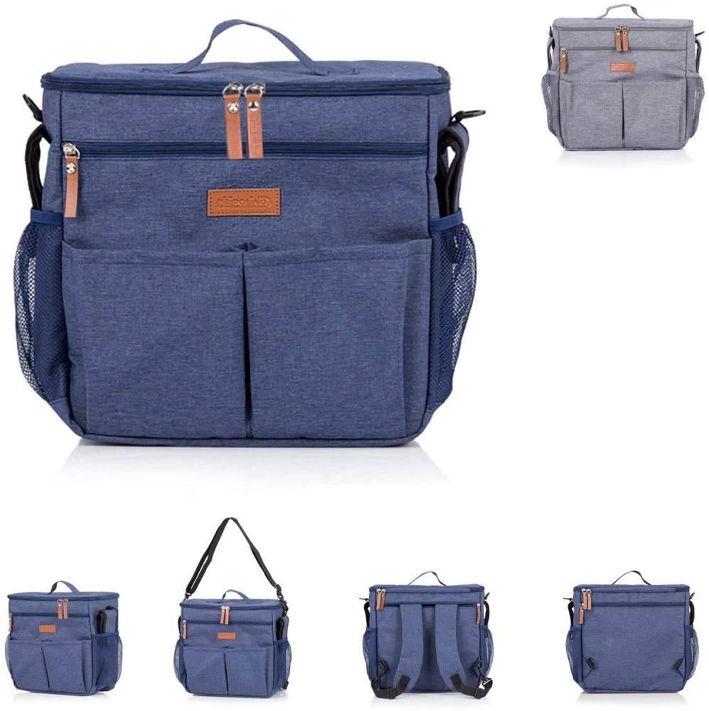 Chipolino Thermo Kinderwagentasche Rucksack verstellbare Träger Wickelunterlage, Farben:blau Bild 1