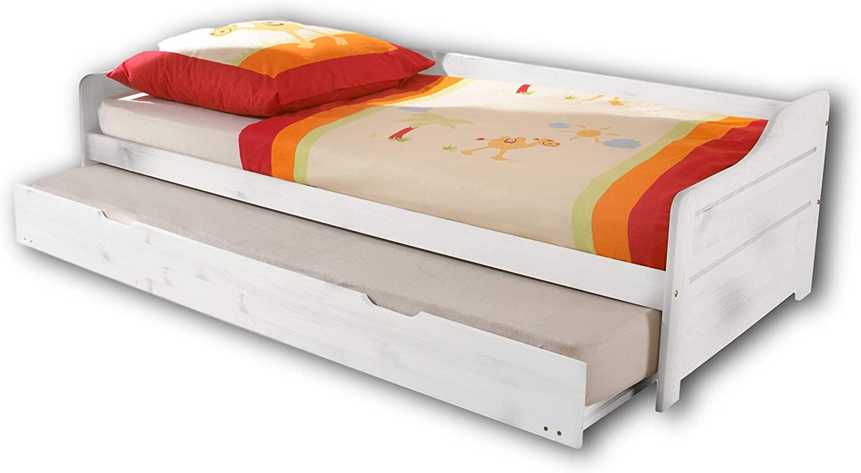 Bega 'Bonnie' Einzelbett mit Ausziehbett weiß 90x200 cm Bild 1