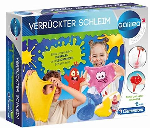 Clementoni 59173 Galileo Science – Verrückter Schleim, lustige Experimente mit klebrigen und leuchtenden Substanzen, Spielzeug für Kinder ab 8 Jahren, für kleine Chemiker Bild 1