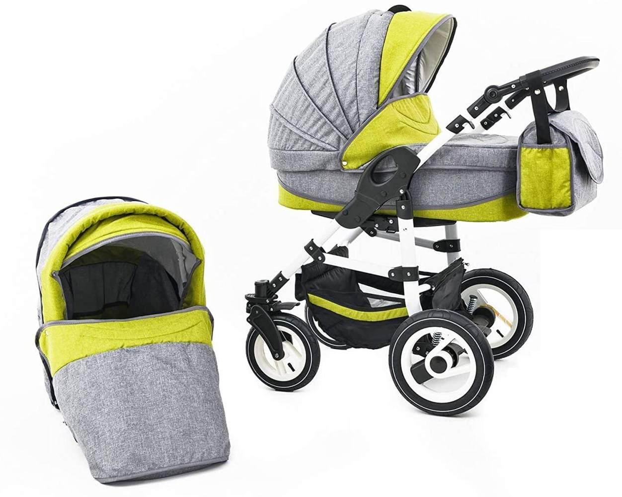 Tabbi ECO LN | 2 in 1 Kombi Kinderwagen | Hartgummireifen | Farbe: Green Bild 1