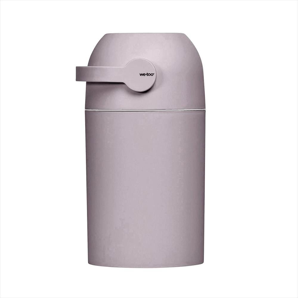 Set Kidsmill Windeleimer we-too Nordvik mit Stoffwindel von Kinderhaus Blaubär   Diaper Keeper mit Geruchsstop-System   für bis zu 25 Windeln   keine extra Nachfüllkassetten nötig, Design:old pink Bild 1