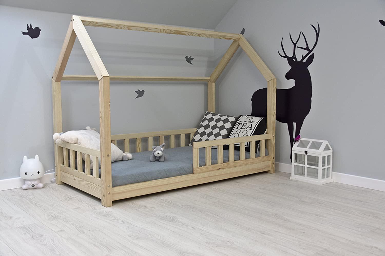 Best For Kids Hausbett 90x160 inkl. Matratze und Rausfallschutz Bild 1