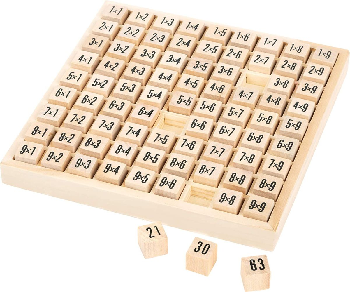 small foot 10953 Rechenbrett 'Das kleine 1x1' aus Holz, auf spielerische Art und Weise Rechnen lernen, ab 6 Jahre Bild 1