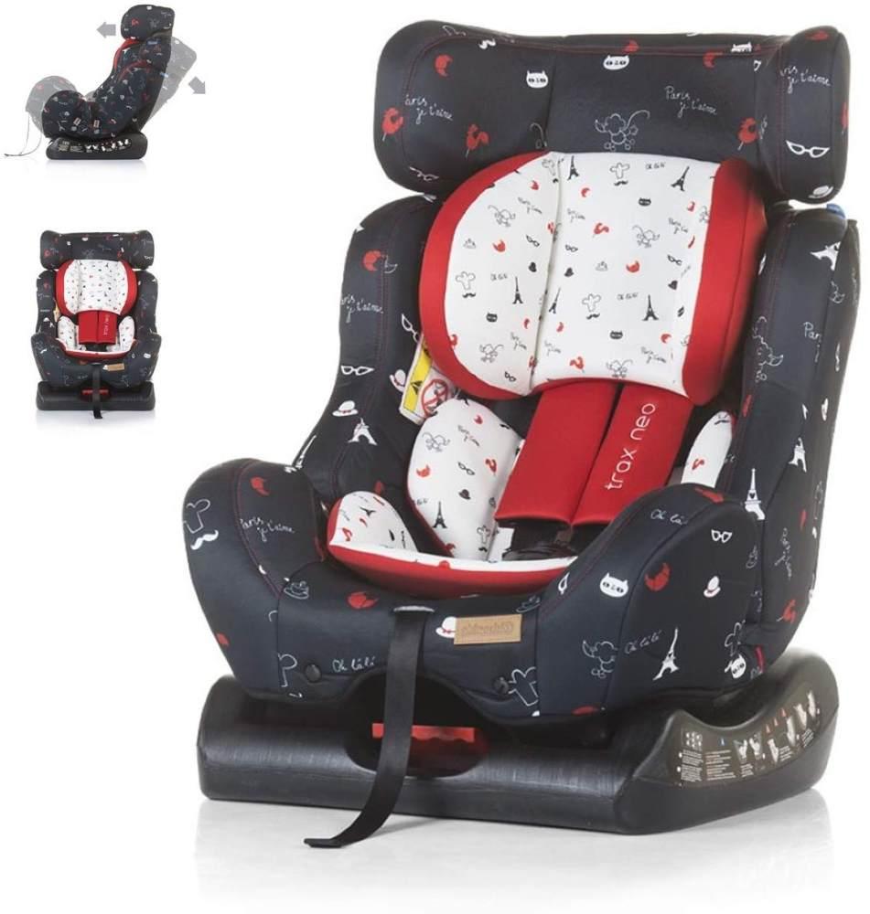 Chipolino Kindersitz Trax Neo Gruppe 0+/1/2 (0-25 kg), Leinen- und Jeansstoff, Farbe:bunt Bild 1