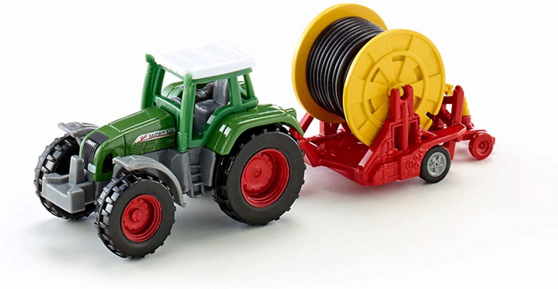 SIKU 1677 Traktor mit Bewässerungshaspel, Metall/Kunststoff, Multicolor, Abnehmbare Verteilerspritze Bild 1