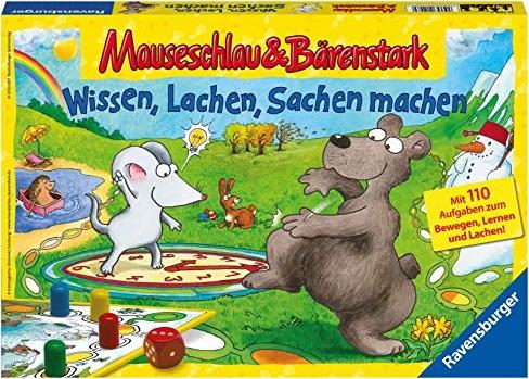 Ravensburger Kinderspiele 21298 - Mauseschlau & Bärenstark Wissen, Lachen, Sachen machen Bild 1