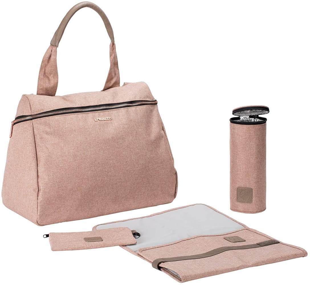 LÄSSIG Baby Wickeltasche Handtasche Stylischer Wickelrucksack inkl. Wickelzubehör/Glam Rosie Bag Bild 1