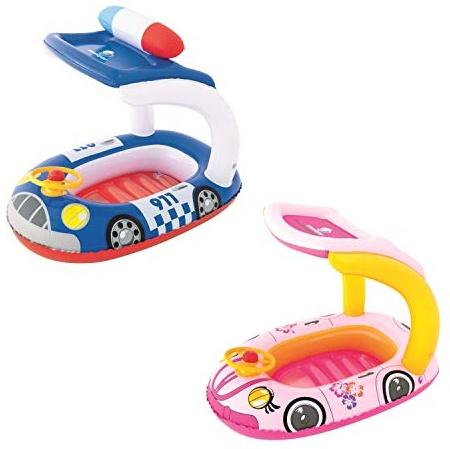 Bestway Kinderboot mit Sonnendach 'Kiddie Car', 98 x 66 cm - 1x Kinderboot, zufällige Farbauswahl Bild 1