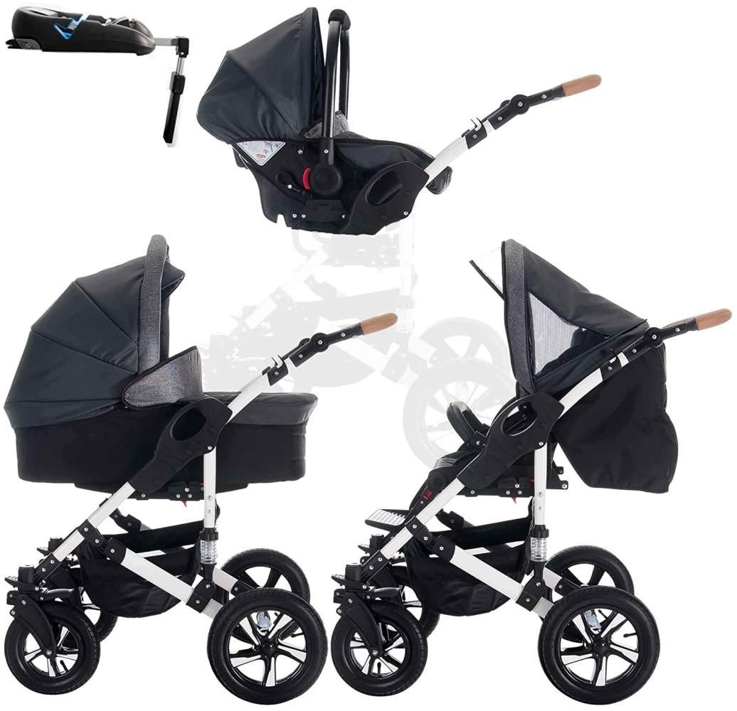 Bebebi myVARIO   4 in 1 Kinderwagen + ISOFIX   Luftreifen   Farbe: myStar Bild 1