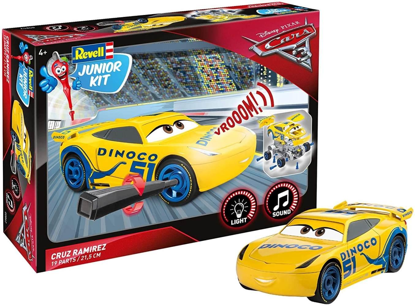 Cruz Ramirez von Revell Junior Kit - Disney Cars 3 - cooler Bausatz für Kinder ab 4 Jahren zum Schrauben, Basteln und Spielen, robust, mit Light & Sound Effekten - 00862 Bild 1