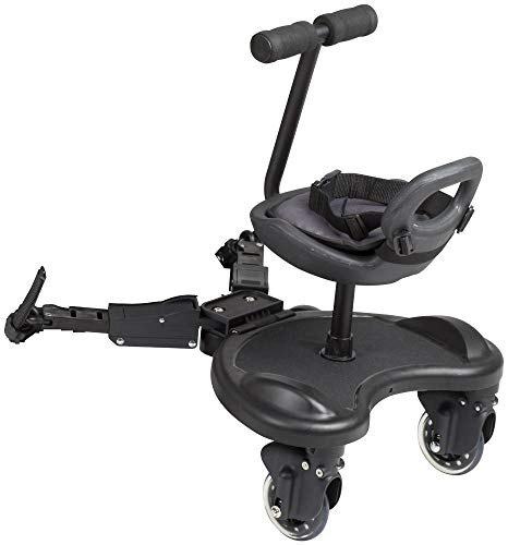 BabyGO 'WeGO' Buggyboard mit Sitz inkl. Verlängerung und Kupplung, universell einsetzbar Bild 1
