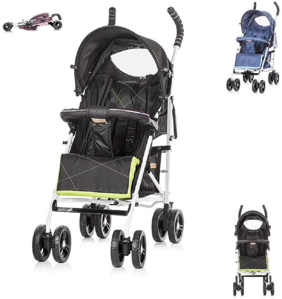 Chipolino Kinderwagen Buggy Sisi Kollektion 2018, Buggy, Rückenlehne einstellbar schwarz Bild 1