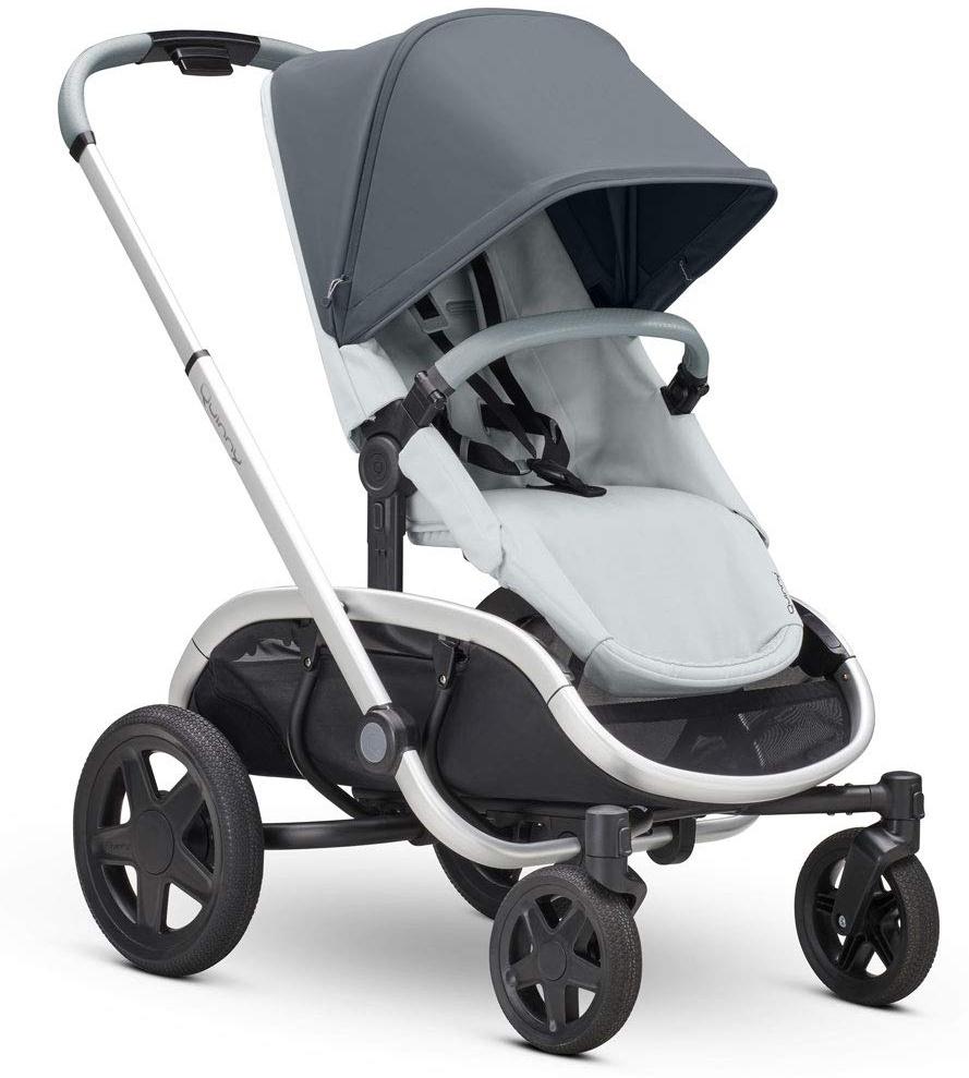 Quinny Hubb Mono XXL Shopping-Kinderwagen, großer Einkaufskorb, einfach klappbarer Kinderwagen, nutzbar ab ca. 6 Monate bis ca. 3,5 Jahre, Graphite on Grey Bild 1