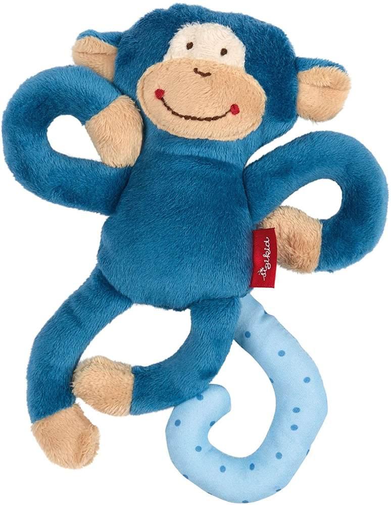 sigikid, Jungen, Aktiv-Anhänger mit Rassel, Affe, Blau, 42169 Bild 1
