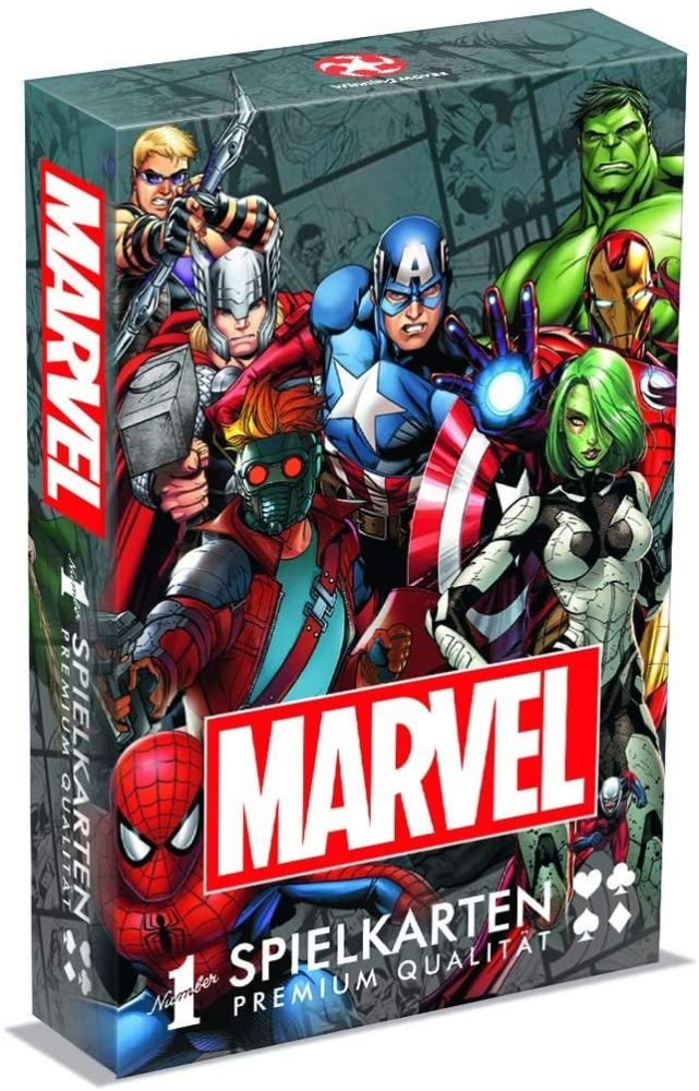 Winning Moves GmbH WIN30638 Number 1 Spielkarten - Marvel Universe Avangers Iron Man Kartenspiele Bild 1