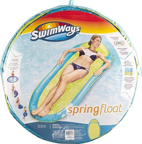 SwimWays 6045237 - Spring Float Original, einfach auffaltbare Wasserhängematte, farblich sortiert Bild 1