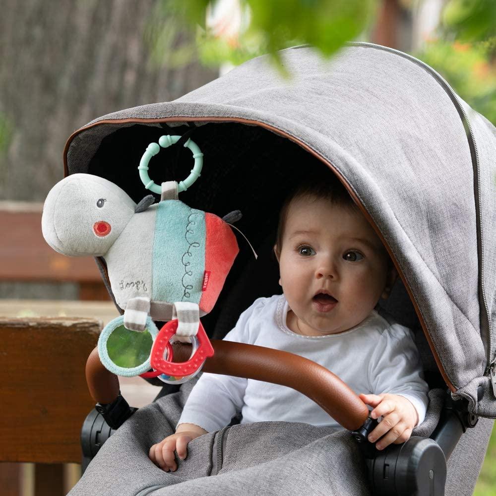 FEHN 059052 Activity-Nilpferd mit Ring / Motorikspielzeug zum Aufhängen mit spannenden Anhängern zum Greifen und Geräusche erzeugen - für Babys und Kleinkinder ab 0+ Monaten Bild 1