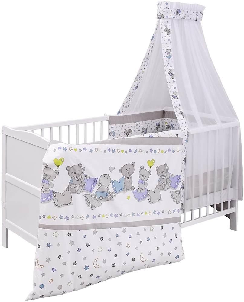 Urra Komplett-Kinderbett Luca 70x140 cm Kiefer weiß Bärle Bild 1