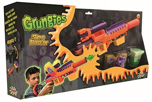 Splash Toys 56018i Grungies Slime Blaster, Schleimgewehr inklusive grünem Slime und Monsterfigur als Ziel für Schleimschüsse, bunt Bild 1