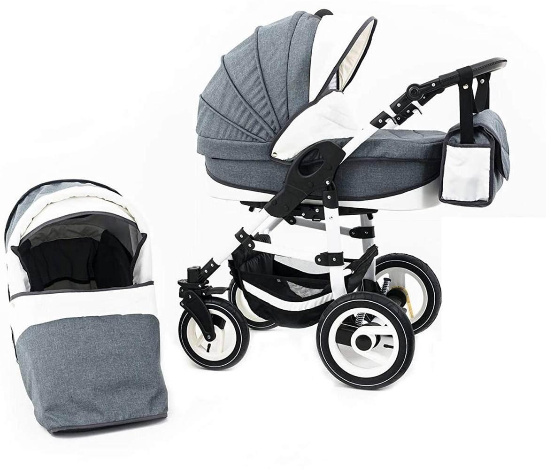 Tabbi ECO LN | 2 in 1 Kombi Kinderwagen | Hartgummireifen | Farbe: White Bild 1
