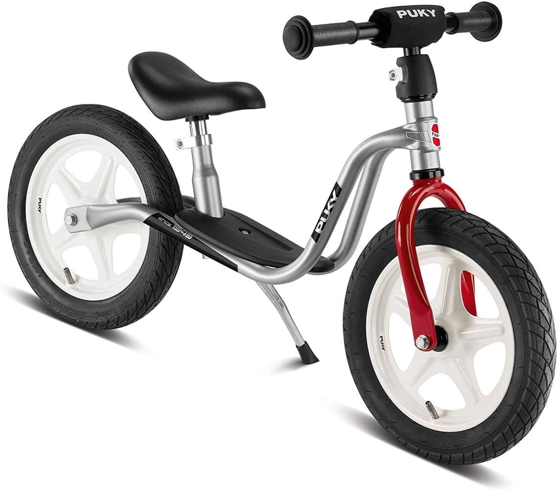 PUKY 4020 'LR 1 L' Laufrad, für Kinder ab 90 cm Körpergröße, bis 25 kg belastbar, höhenverstellbar, silber-rot Bild 1