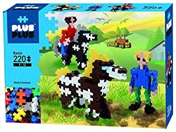 Plus-Plus 9603790 52315 Geniales Konstruktionsspielzeug, Basic, Pferde und Reiter, Bausteine-Set, 220 Teile, Bunt Bild 1
