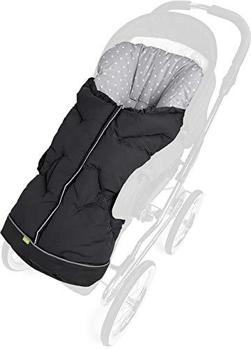 PRIEBES MILADKA Universal Winter Fußsack für Kinderwagen & Buggy/abnehmbares Fußteil/auch Krabbeldecke & Wickeldecke/atmungsaktiv & wasserabweisend, Design:anthra stars grau, universell einsetzbar Bild 1