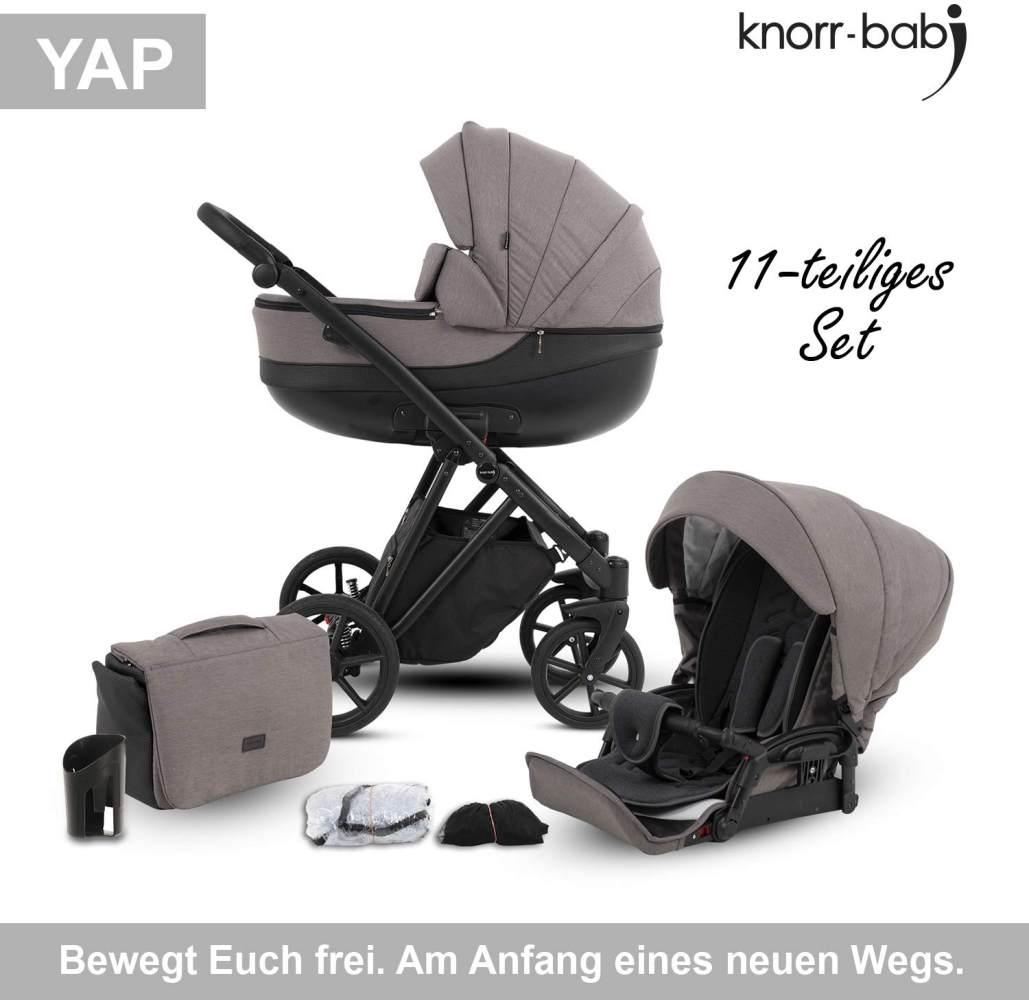 Knorr Baby Kombikinderwagen 2in1 'YAP' in Taupe, inkl. Babywanne, Sportsitz, Wickeltasche, Regenschutz Bild 1