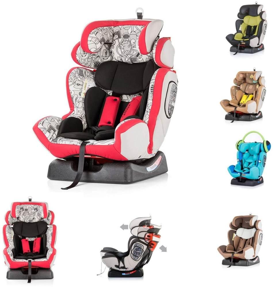 Chipolino Kindersitz 4 Max Gruppe 0+/1/2/3 (0-36 kg), Seitenaufprallschutz, Farbe:rot Bild 1