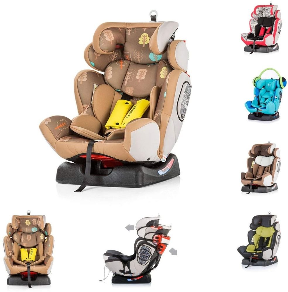 Chipolino Kindersitz 4 Max Gruppe 0+/1/2/3 (0-36 kg), Seitenaufprallschutz, Farbe:braun Bild 1