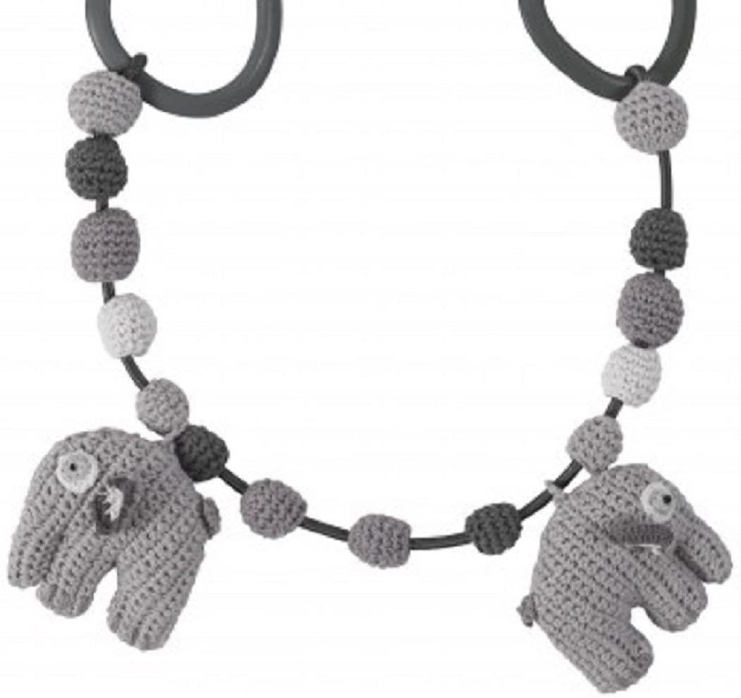 Sebra - Elefant Fanto - grau - Kinderwagenkette Wagen Kette Häkel Strick Baby Spielzeug Bild 1