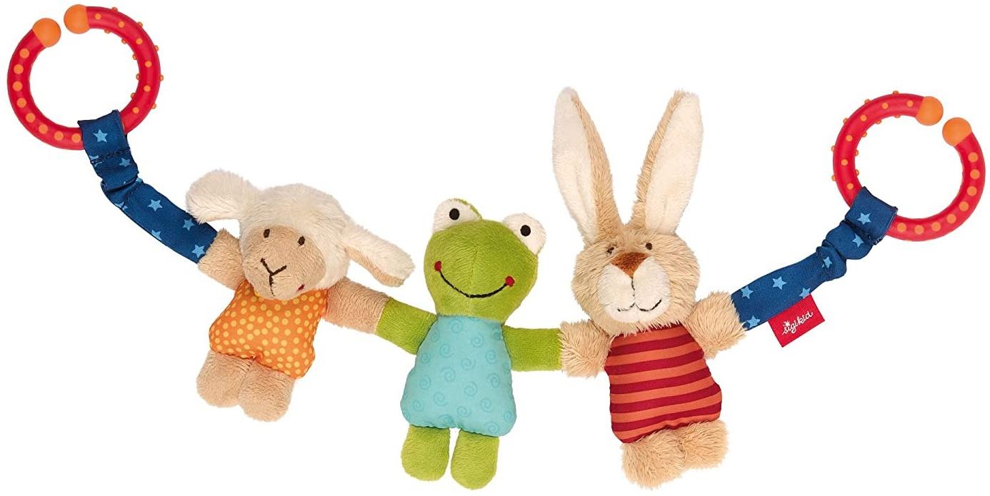 sigikid, Mädchen und Jungen, Wagenkette Hase-Frosch-Schaf, Mehrfarbig, 41438 Bild 1
