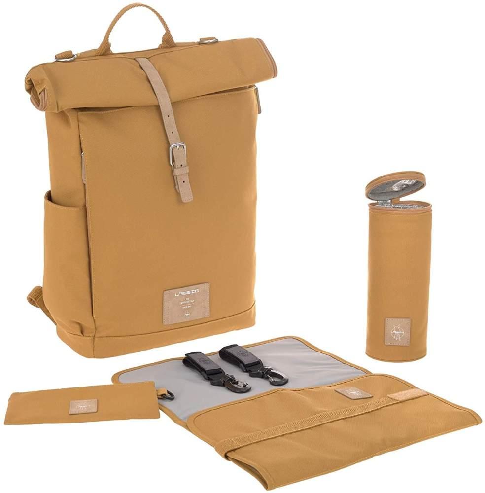 Lässig Wickelrucksack Rolltop Backpack Curry Bild 1